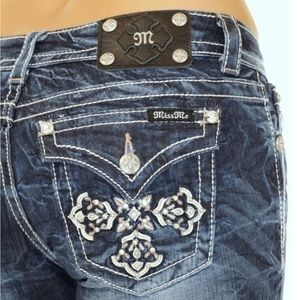 MISS ME Bootcut Jeans cross pocket bling 29